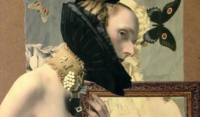 Exposición colectiva Collage en Adriana Maar gallery