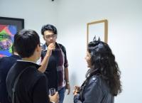 Inauguración de la exposición no. 18 de collage en Adriana Maar gallery